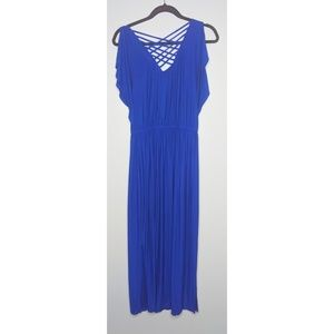 Apt 9 Cobalt Blue Flowy Long Dress Extra Small